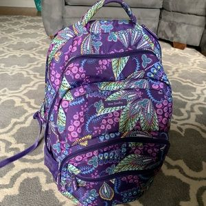 Vera Bradley backpack and matching lunch tote